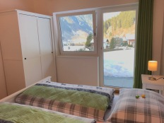Ausblick aus dem Schlafzimmer